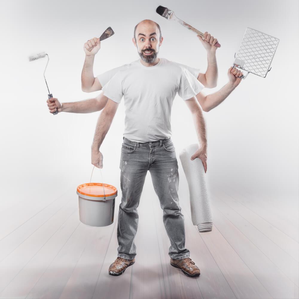 Een schilder helpt graag een handje